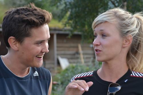 PG 2014 Frank Kjosås/Marie Blokhus (intervju bak scenen før forestilling 6.8.14)