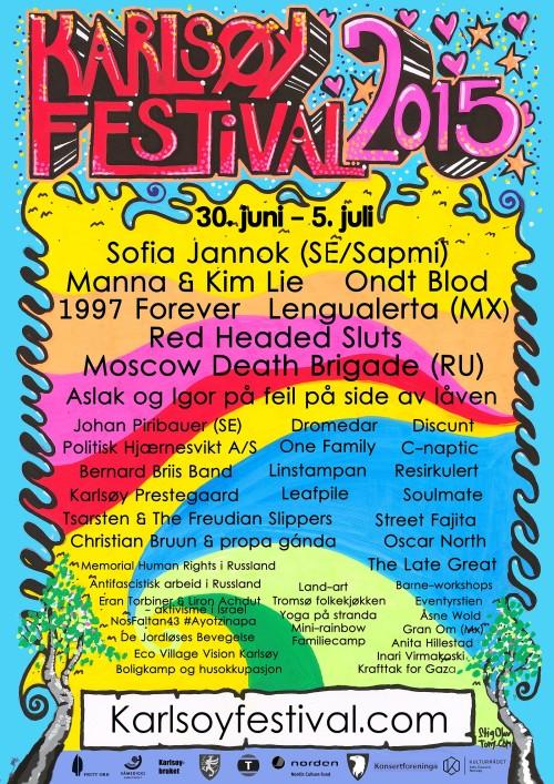 Karlsøyafestivalens plakat 2015